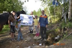Участники похода на ручье Красотун в окресностях Великого Истока (1)